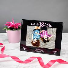 personalised 18th birthday gl photo frame