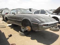 mazda rx7 1985. junkyard find 1985 mazda rx7 rx7