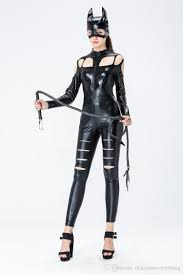 club catwoman masked cat lady cosplay costume with tail paint elastic leather bar ds pole