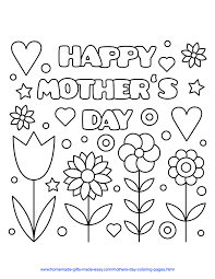 Card with flowers, gift for mom. 57 Best Mother S Day Coloring Pages Free Printables