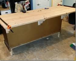 diy wooden countertops diy wood countertop dresser to a kitchen island the chronicles part 3 addison