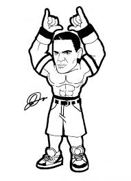 Small Picture Printable 45 WWE Coloring Pages 2338 John Cena Coloring Pages