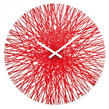 koziol red silk clock wall art on wall art red with koziol silk contemporary red wall art clock walls love art