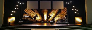 Church Stage Design Ideas Lattice Burst