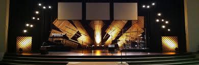 Church Stage Design Ideas lattice burst