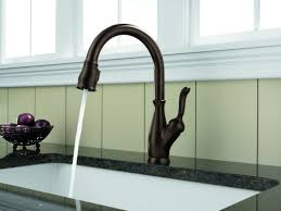 Leland Delta Kitchen Faucet Faucetcom 9178 Ar Dst Sd In Arctic Stainless By Delta