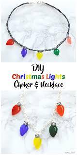 Light Up Hanukkah Necklace Diy Christmas Lights Choker Necklace Diy Christmas
