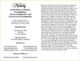 Newspaper Obituary Template Obituary In Newspaper Examples 10 11 Sample Obituaries Scbotscom