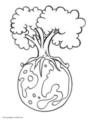 Earth Day Coloring Pages Free Printable Recycling Pictures