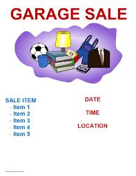 Yard Sale Flyer Template Word Atlantaauctionco Com