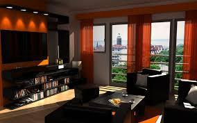 living room with black furniture. Dark Living Room Color With Black Furniture Idea A