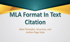 Mla Format For Intext Citations Mla Format In Text Citation Principles Structure And