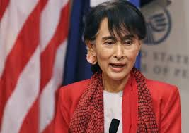 democracy advocate aung san suu kyi we should not depend on u s  aung san suu kyi speaks at the u s institute of