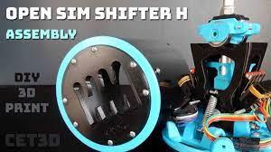 Open Sim Shifter H Assembly - DIY 3D Print - Arduino - Sim Racing - YouTube