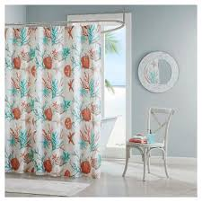 coral and teal shower curtain. shower curtain coral (72\ and teal