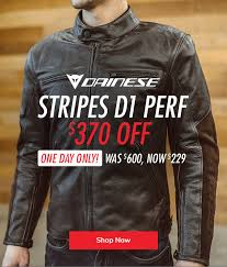 today only 370 off dainese stripes d1 perf jacket