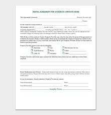 house rental agreement sample room rental agreement 7 sample docs for word pdf