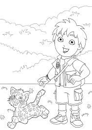 Small Picture go diego go coloring page 7png 595842 Dora Birthday Ideas
