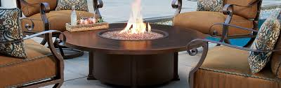 round gas fire pits