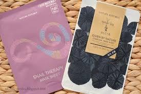 korean sheet masks rocaille writes korean sheet masks nature republic snail therapy