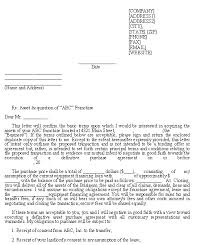Sample Letter Of Intent Franchise Purchase Template