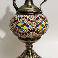 multi color surai style turkish table lamp