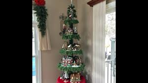 Christmas Tree Village Display Stands Christmas Village Display Tree Tutorial wGuest CrafterVlogger 40