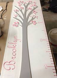 Wooden Growth Chart For Girls Personalized Growth Chart By Sweetlilydesign On Etsy