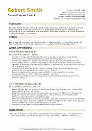 general laborer resume skills general laborer resume samples qwikresume