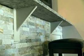 floating countertop bracket granite brackets support wood s kitchen overhang wall