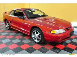 1996 Laser Red Metallic Ford Mustang SVT Cobra Coupe #24589164 ...