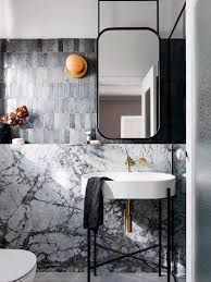Modern bathroom mirrors Mid Century Decus Interiors Modern Bathroom Suspending Mirror Emily Henderson 17 Fresh Inspiring Bathroom Mirror Ideas To Shake Up Your Morning