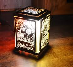 Moscow Ornament Carousel Table Lamp Winter Gift Idea Lamp Diy Etsy