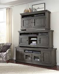 gray distressed furniture. Wood Furniture Casual Entertainment Willow Distressed Dark Gray Finish Progressive Throughout