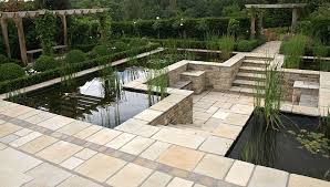 Small Picture Eye level pond with sunken patio Pangbourne Berkshire GARDEN
