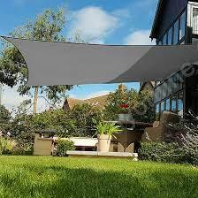 4x4m sun shade sail garden patio canopy