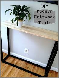 amazing diy modern entryway table mom in city inexpensive entry table
