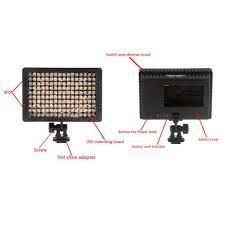 Cn 160 Led Video Light Battery Neewer Cn 160 160 Led Video Light On Camera Light For Canon Sony Panasonic Camcorder Or Dlsr Camerasor Digital Video Camcorder