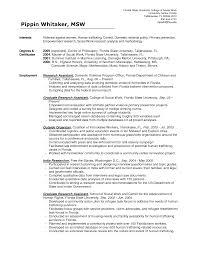 Sample Social Work Resume Resume For Study