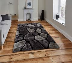 grey and black rug rug designs le house hand tufted 3d pebble design gy pile rug super