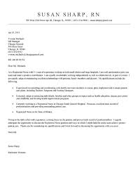 Nurse Cover Letter Example Sample