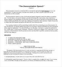 sample demonstration speech example template documents  funny demonstration speech example