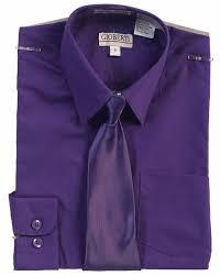 Boys Long Sleeve Dress Shirt Solid Tie 27