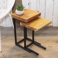Industrial Wood Coffee Table Nest