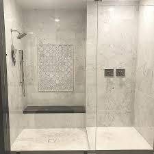 herringbone mosaic marble shower floor tile amp subway tiles unique 188 best bianco