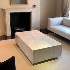 minimalist design coffee table marble rectangular living room london box by maami