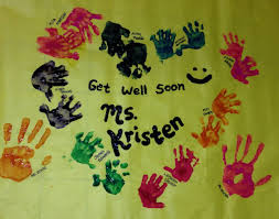 Get Well Soon Poster Get Well Soon Posters Done By 1 Year Olds Get Well Soon