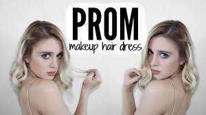 prom 2016 tutorial makeup hair dress