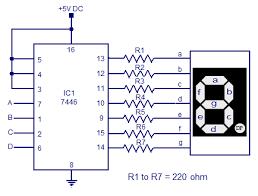 7446 seven segment decoder driver circuit diagram electronic 7446 seven segment decoder driver circuit diagram
