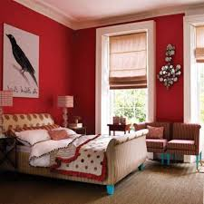 red bedroom color ideas. Bedroom: Attractive Red Accents Wall Color Of Girl Bedroom Design Feat Likeable Colibri Painting Artwork Ideas I